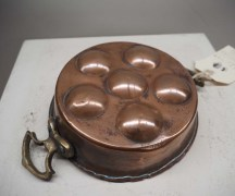 Ottoman Copper & Brass Egg pan