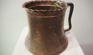 Antique Turkish ottoman copper pot metal homewares