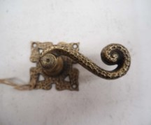 antique metal homeware Cast brass door handle c.1910