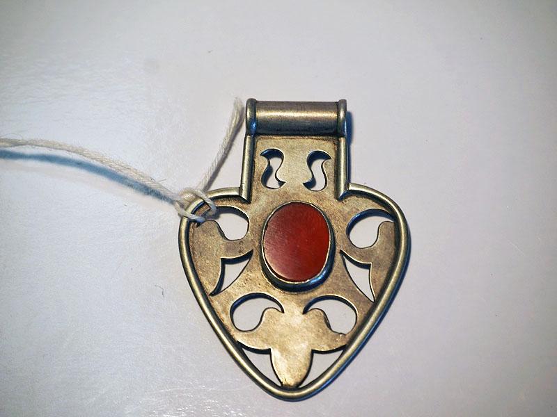 Turkish Silver & Carnelian Pendant