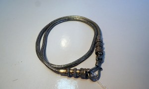 Tribal silver necklace, vintage 20th century