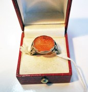 """My wish is from God for all the best"" Stirling silver ring"