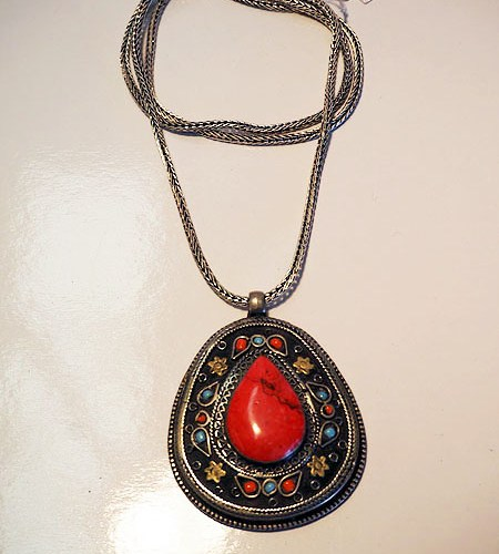 Turkish Silver & Coral necklace
