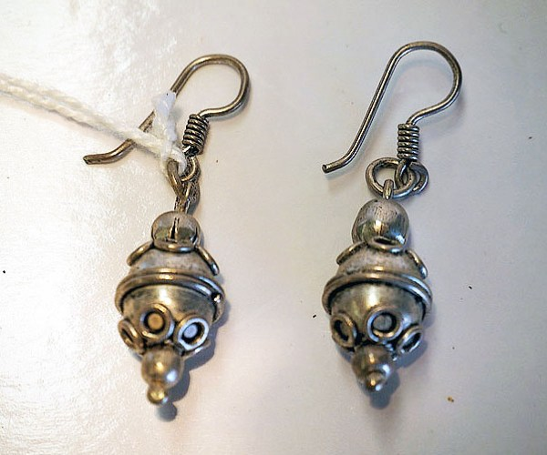 Hand made Syrian silver earrings