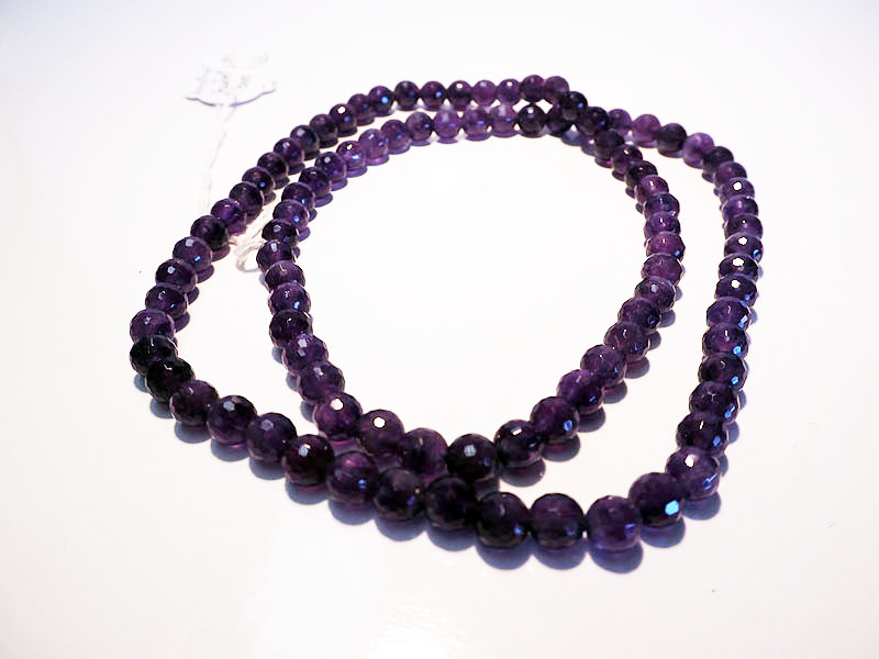 Amethyst Faceted Beaded Necklace
