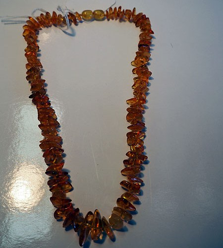 Mid 20th century amber tumbled necklace