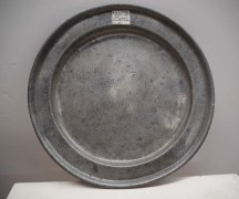 Antique metal pewter Ottoman plate
