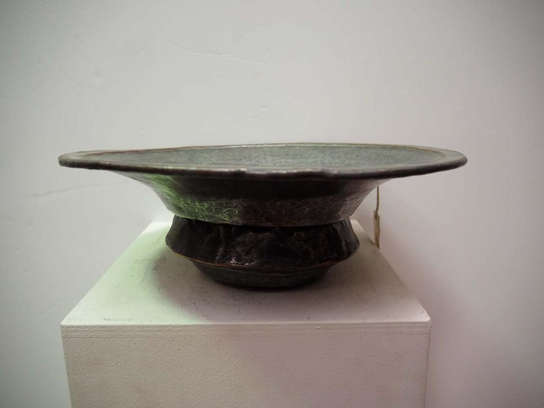 Antique Metal work homeware Ottoman period tinned copper bowl