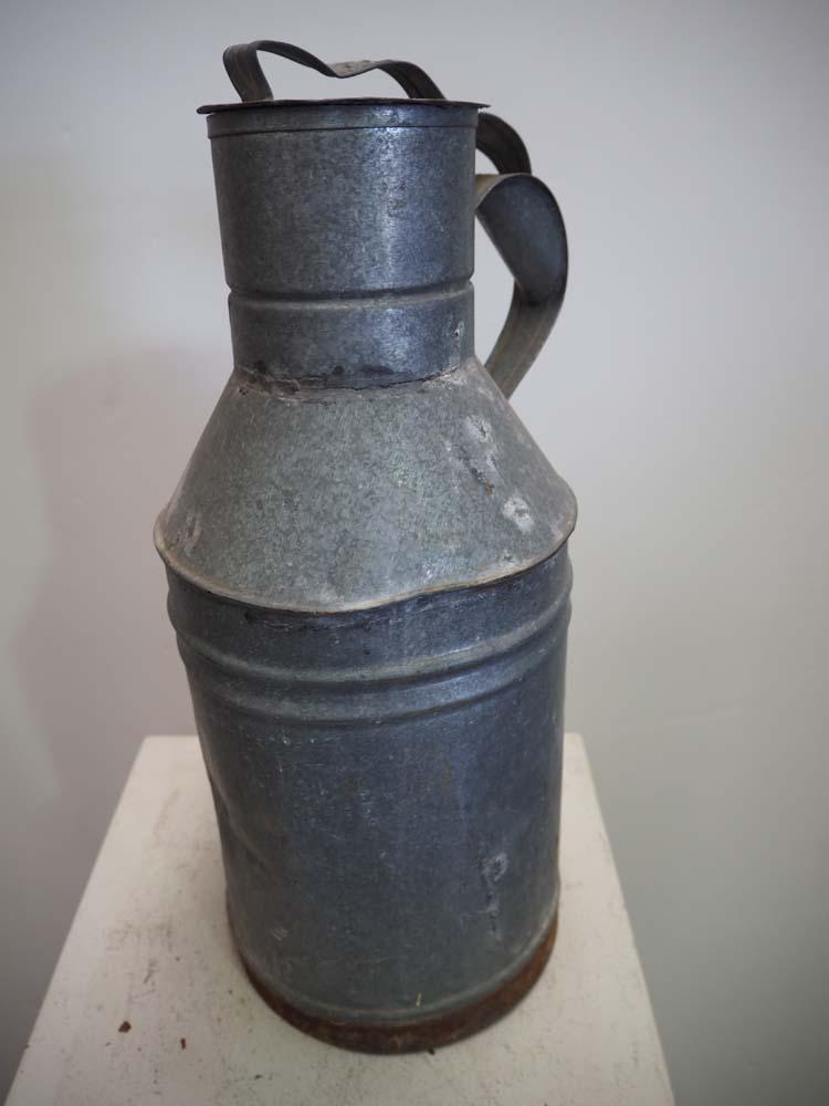 Vintage Turkish Galvanised Canister