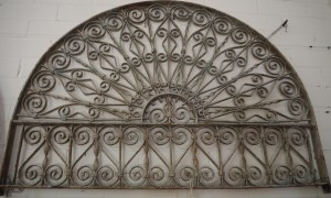 Antique Metal Work Ottoman Period wrought iron Grille