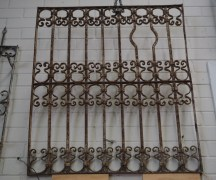 Antique Ottoman grille wrought iron