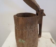Carved walnut Turkish 'Ayran' Tankard