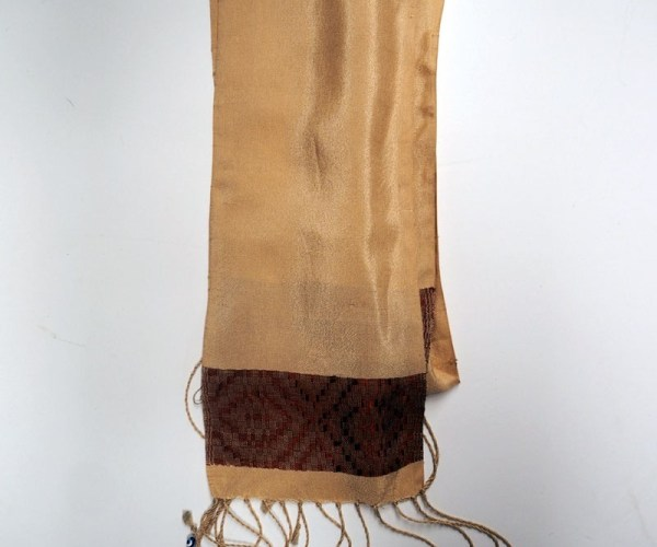 Hand loomed silk & cotton scarf from Turkey