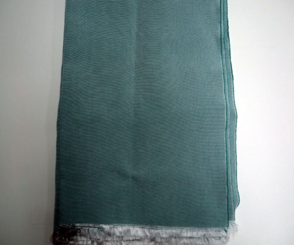 Hand loomed Turkish Silk Turquoise scarf