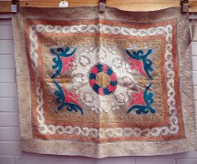 Finely embroidered suzani from Samarkand, Mid 20th century