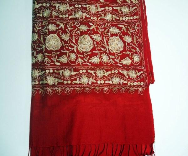 Kashmiri Silk on wool Turkish scarf