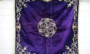 Gold thread Embroidered Silk Velvet Ceremonial cover, 19th century Ottoman