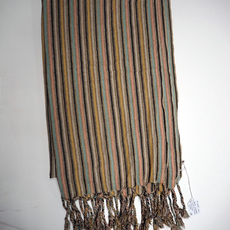 Hand loomed silk and cotton Turkish scarf