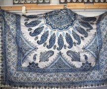 Superb Persian hand block printed cotton bed spread