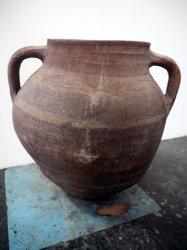 Terracotta urn from Anatolia with two handles