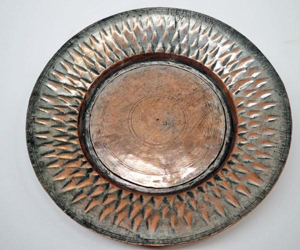 Ottoman period 19th century tinned copper plate