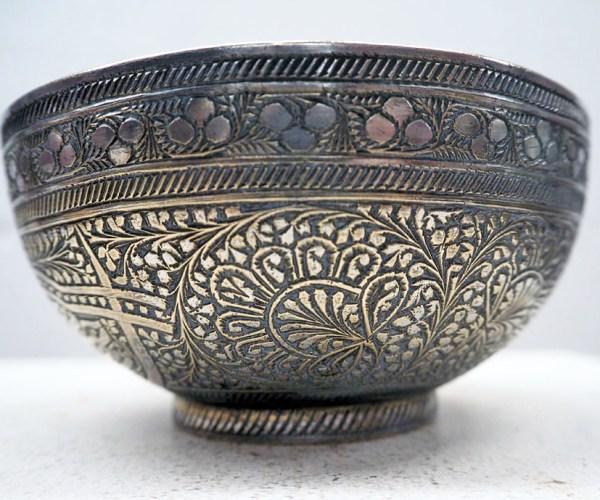 Ottoman period engraved brass bowl