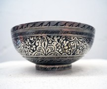 Ottoman period engraved hamam bowl