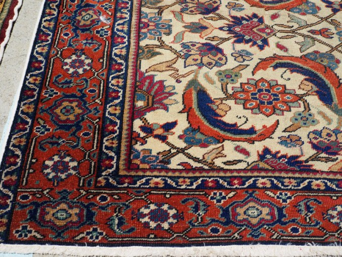 Hand made double knotted wool on cotton Turkish carpet from Kayseri, approximately 90 years old
