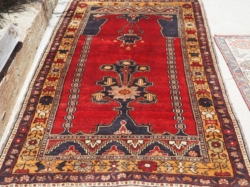 Hand made Double knotted Turkish carpet from Aksaray, Approximately 60 years old