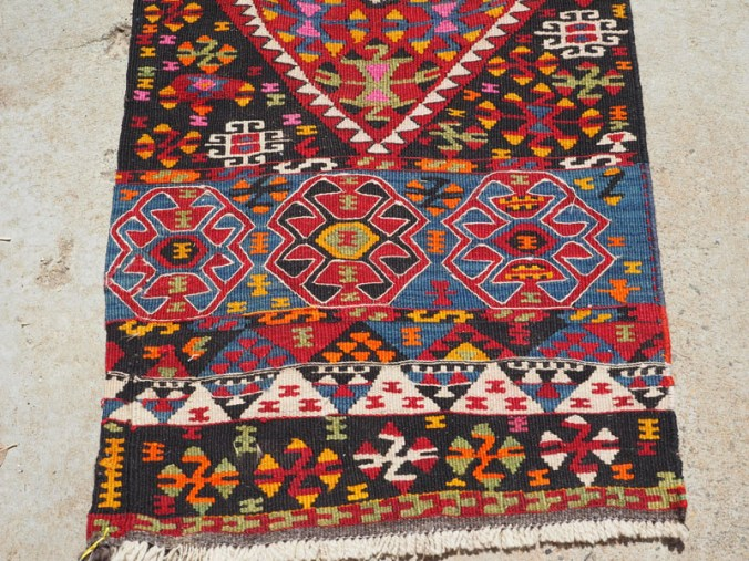Hand woven wool on wool Iraqi Kurdish Herki Runner, approximately 50 years old