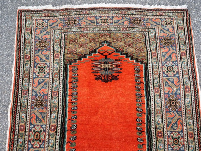Double knotted hand made wool on cotton Turkish carpet from Kayseri, approximately 50 years old