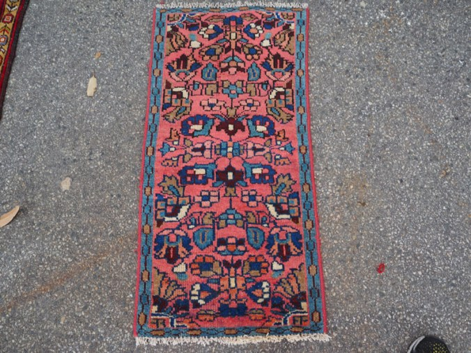 Hand knotted wool on cotton Persian carpet from Saruk, approximately 60 - 70 years old