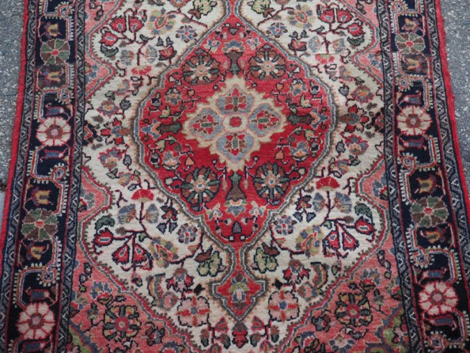 Hand knotted wool on cotton Persian carpet from Bidjar, approximately 70 - 80 years old