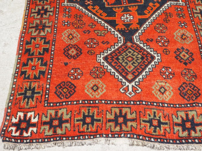 Double knotted hand made wool on wool Turkish carpet Kurdish Sivas, approximately 70 - 80 years old