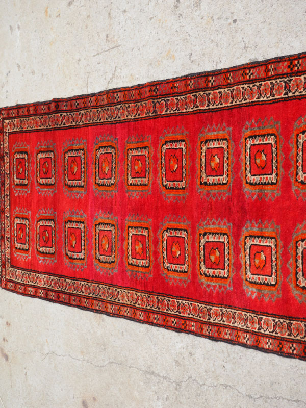 Hand knotted wool on wool Persian runner Meshed, approximatley 50 - 60 years old