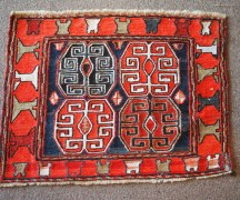 Hand woven wool on wool embroidered Kilim 'Cicim' Daghestan Soumac, approximately 60 years old