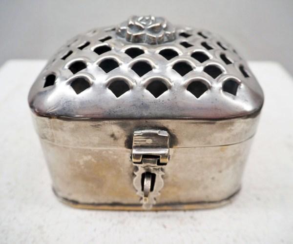 Ottoman period 19th century silver plated box