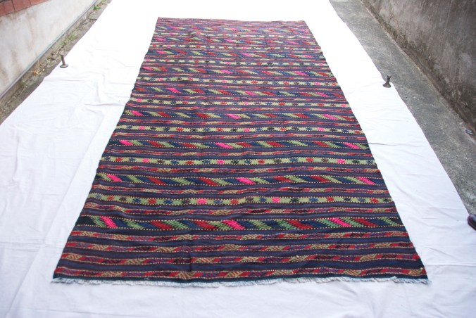 T819 Turkish Konya hand knotted & embroidered kilim approximately 40 years old 3.18 x 1.57 $895.00
