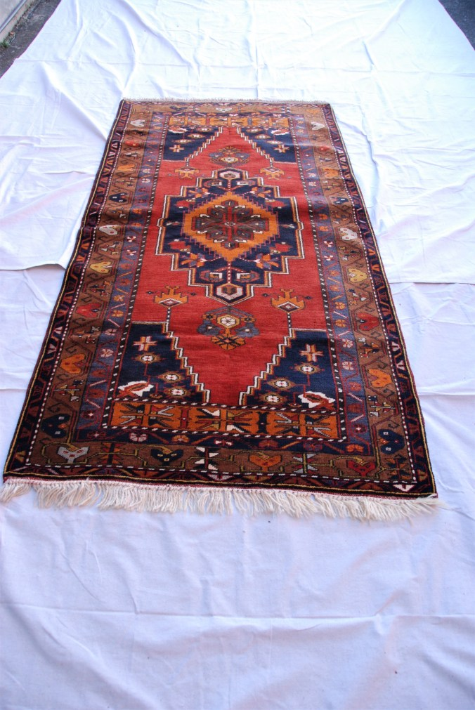 T779 Yahyali hand double knotted wool on wool carpet approximately 40 years old 21. x 1.2 $1,395.00