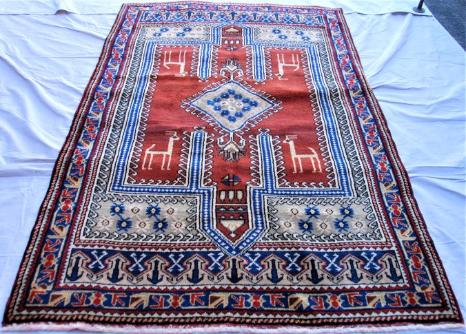 T794 Taspinar hand double knotted wool on wool carpet approximately 40 years old 2.00 x 1.25 $1,195.00