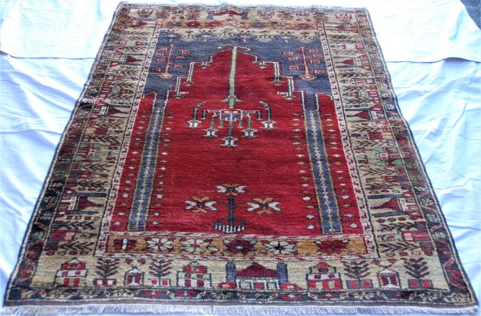 T799 Yahyali hand double knotted wool on wool carpet approximately 50 years old 1.67 x 1.21 $845.00