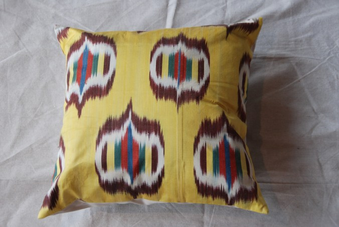 C210 Turkish Silk Ikat Cushion 40cms x 40cms $55