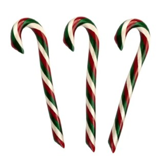 3pk Cherry filled with Chocolate Candy Cane - Hammond's Candies
