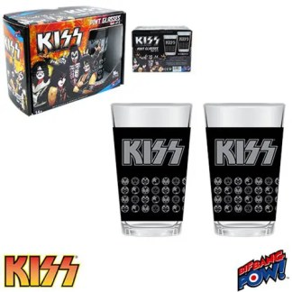 Otto's Granary KISS 16 oz. Glass Set of 2 Tumblers
