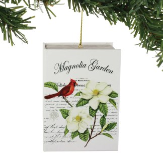 Christmas Magazine Book with Mini Ornament - Magnolia Garden by Department 56 - 6004728