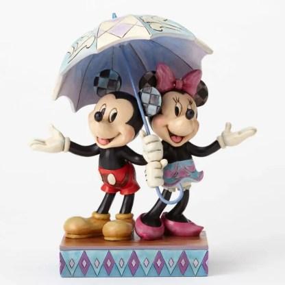 """Otto's Granary Mickey & Minnie with Umbrella """"Rainy Day Romance"""" by Jim Shore"""