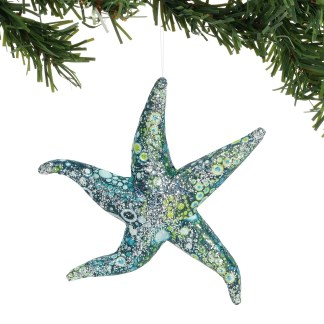 Pearl Bay Watercolor Star Ornament - Coast to Coast by Department 56 6004603