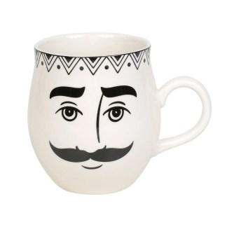 Otto's Granary Pen & Ink Male Face Mug by Izzy & Oliver