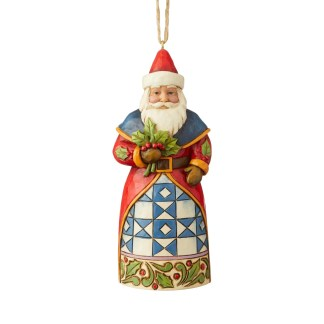 Otto's Granary Santa with Holly Ornament by Jim Shore
