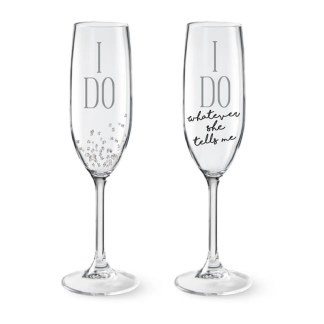 Otto's Granary I Do Champagne Glass Set by Our Name Is Mud